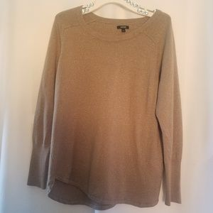 Apt.9 WOMEN'S KNIT SWEATER WITH GOLD SHIMMER